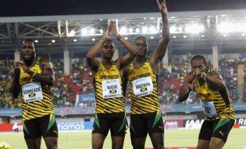 Jamaikas sprinteri labo pasaules rekordu 4x200 metru stafetē