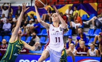 Latvijas U-19 basketbolistes dramatiskā PK astotdaļfinālā nepārraksta Latvijas basketbola vēsturi
