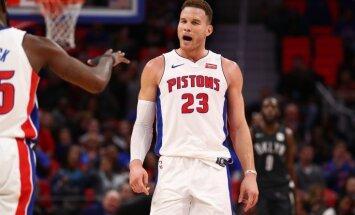 Grifins nespēj palīdzēt 'Pistons' uzvarēt; 'Celtics' zaudē līderpozīciju Austrumu konferencē