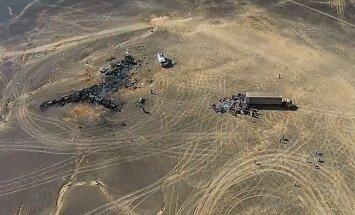 Ēģiptē pabeigti meklēšanas darbi Krievijas lidmašīnas katastrofas vietā