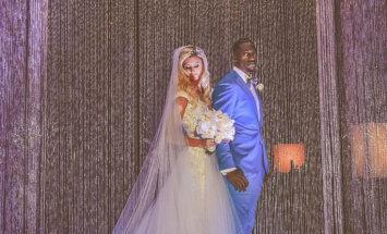 Foto: Amerikāņu futbola spēlētāja un igauņu vieglatlētes skaistās kāzas