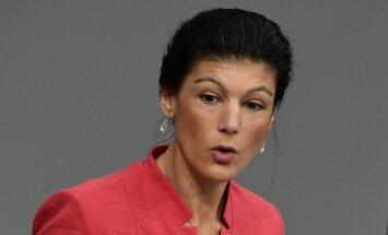 Vācijas 'Kreiso' līdere cer likvidēt NATO un veidot aliansi ar Krieviju