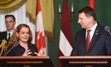 Kanādas ieguldījums reģiona drošības stiprināšanā Latvijā nepaliek nenovērtēts, atzīst Vējonis