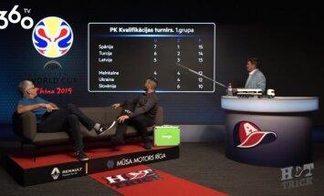 Video: 'Hattrick' vadītāji analizē Latvijas vīriešu basketbola izlases situāciju PK kvalifikācijā
