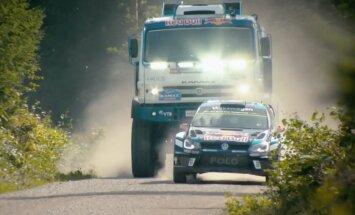 Rallija 'Volkswagen' pret Dakāras 'kamazu' slavenajos Somijas tramplīnos