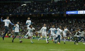 Madrides 'Real' smagā cīņā pārvar 'Bayern' barjeru ceļā uz Čempionu līgas finālu