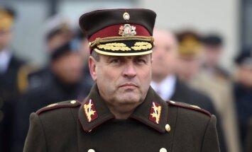 Вейонис присвоил командующему НВС звание генерал-лейтенанта