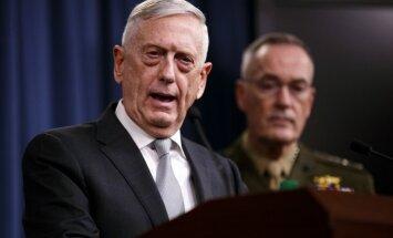 Gaisa triecieni Sīrijā vērsti pret trim objektiem, paziņo ASV ģenerālis