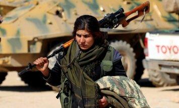 Turku spēki Sīrijā strauji uzbrūk ASV atbalstītajiem kurdiem