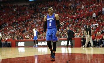 Uz NBA sezonas vērtīgākā spēlētāja balvu pretendē Lenards, Hārdens un Vestbruks