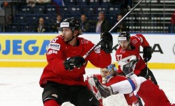 Hokeja pārbaudes spēlēs uzvaras izcīna Šveice, Vācija un Slovākija