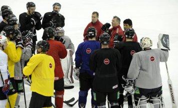 Nosaukts Latvijas hokeja izlases sastāvs pirmajai spēlei ar Krieviju