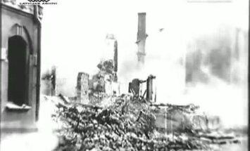 Arhīva video: Kaujās sagrautā Jelgavas pilsēta, 1944. gads