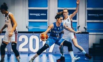 Latvijas U-18 basketbolistes zaudē Itālijai; apdraudēta vieta EČ augstākajā divīzijā