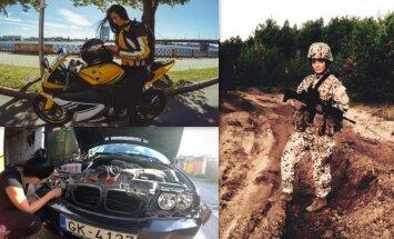 Армия, автомобили и мотоциклы: необычная жизнь Сигне Бренце