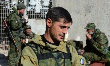 Nogalināts Doņeckas prokremlisko kaujinieku komandieris 'Givi'