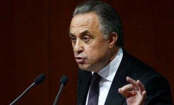 Krievijas sporta ministrs Mutko pārvēlēts Futbola savienības prezidenta amatā