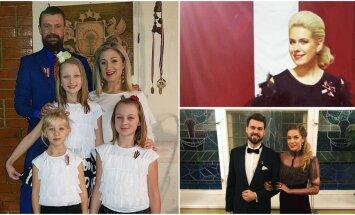Foto: Kā valsts svētku brīvdienās svinēja slaveni latvieši