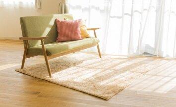 Paklājs ne tikai kāju siltumam. Stilīgas idejas, kā to izmantot citviet interjerā