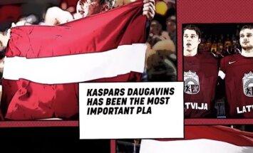 Video: IIHF reklāmas rullītī par Latviju izceļ Daugaviņu, kurš nespēlēs Dānijā