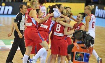Serbijas basketbolistes nodrošina vietu Eiropas čempionāta ceturtdaļfinālā
