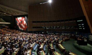 ANO Ģenerālā asambleja nosodījusi Izraēlas vardarbību Gazā