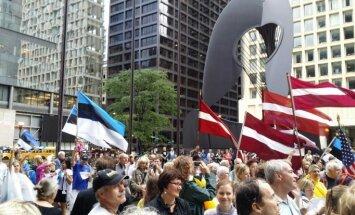 Foto: Baltijas ceļa gadadienu atzīmē arī Čikāgā