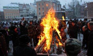 """Рига вспоминает баррикады 1991 года: президент призвал """"не возводить баррикады между жителями Латвии"""""""