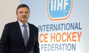 IIHF prezidents Fāzels par pasaules hokeja čempionātu Rīgā, dopinga sērgu sportā un zobārstiem