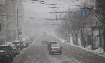 В Риге высота снежного покрова превышает 15 сантиметров