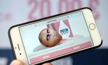 Latvijas aģentūra rada klizmu ar Putina attēlu, lai vāktu līdzekļus mediķiem Ukrainā