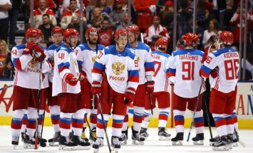 Team Russia after loss to Canada