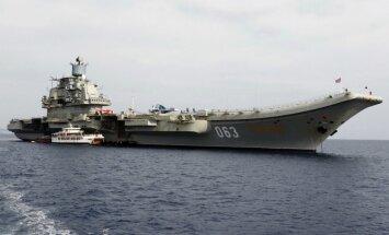 Krievija flotes flagmani 'Admirāli Kuzņecovu' no Murmanskas sūtīs uz Vidusjūru