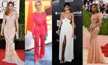 Revidējam slavenību garderobes: četru populāru dāmu zīmīgākie tērpi un stila neveiksmes