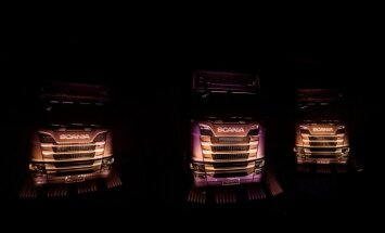 Foto: 'Scania' Latvijā prezentējusi jauno kravas automašīnu paaudzi
