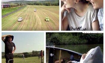 Video: Vietējie Vācijas laukos sarīko sirreālas izrādes garām braucošo vilcienu pasažieriem