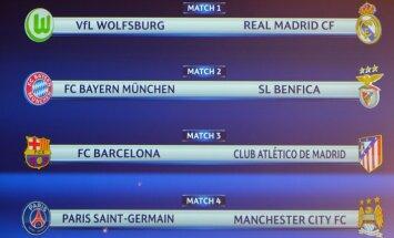 Čempionu līgas ceturtdaļfinālā PSG spēkosies pret Mančestras 'City'