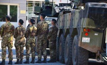 Размещенный в Адажи батальон НАТО пополнили словацкие военнослужащие