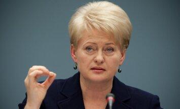 Lietuvai vajadzīga drosme, lai nosargātu sasniegto, pauž Grībauskaite
