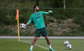 Portugāles izlases vārtsargs Patrīsiu izsaka vēlmi pamest Lisabonas 'Sporting' komandu