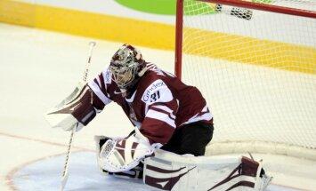 Latvijas hokeja izlase pārbaudes mačā spēkojas ar Vāciju