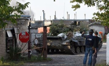 Doņeckā turpinās apšaudes; lidostas rajonā skan artilēriju šāviņi