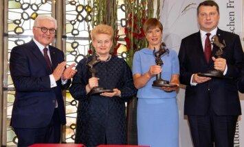 Baltijas valstis saņem starptautisko Vestfālenes miera balvu
