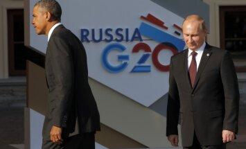 G20 līderi Sanktpēterburgas samita vakariņās nespēj mazināt domstarpības Sīrijas krīzes jautājumā
