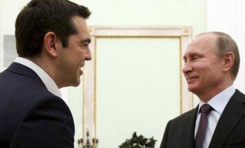 Putins piedāvā palīdzēt Grieķijai, privatizējot tās uzņēmumus
