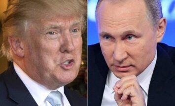 Tramps uzslavē Putinu par ASV diplomātu neizraidīšanu no Krievijas