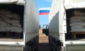 Video: Krievija parāda, kas atrodas otrajā 'humānajā konvojā' Ukrainai