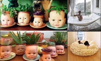 """ФОТО. Коллекция самых уродливых домов: от """"раздавленного великаном"""" до бюста на потолке и гнезда с яйцами"""