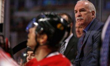 Čikāgas 'Blackhawks' treneris sagaida savu 700. uzvaru NHL regulārajā čempionātā