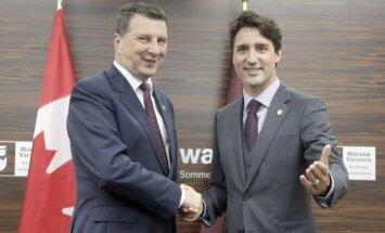 Vējonis: Latvija nodrošinās Kanādas karavīriem visu nepieciešamo atbalstu